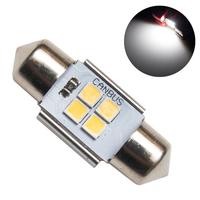 Светодиодная лампа с обманкой 4 SMD3030 C5W 31mm 5000K 12-24V