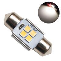 Светодиодная лампа с обманкой 4 SMD3030 C5W 31mm 4300K 12-24V