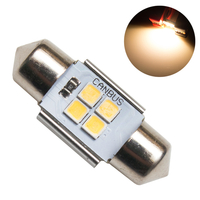 Светодиодная лампа с обманкой 4 SMD3030 C5W 31mm 3000K 12-24V