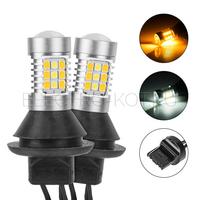 Лампы ДХО - поворотник 2-в-1 в штатное место CAR PROFI 7440 WY21W T20 SMD3030 - 2 шт