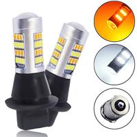 Светодиодные лампы ДХО в поворотники 2 в 1 цоколь 1156 PY21W BAU15S 42 LED 2835 - 2 шт
