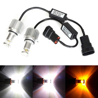 Светодиодные LED лампы HB4 (9006) CREE в ПТФ 3в1 белый желтый оранжевый 600 Lm