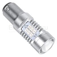 Светодиодная лампа Samsung чипы 21 SMD 2835 1157 - PR21/5W - BA15D красная