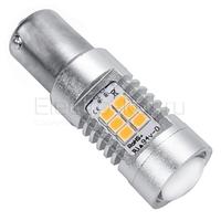 LED лампа Samsung чипы 21 SMD 2835 1156 - P21W - BA15S 3000К цвет галогена