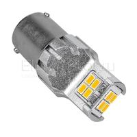 Светодиодная LED лампа Atomic 12 SMD3020 PY21W BAU15S желтая