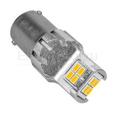 Светодиодная LED лампа Atomic 12 SMD3020 PY21W BA15S желтая