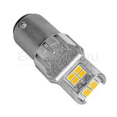 Светодиодная LED лампа Atomic 12 SMD3020 PY21/5W BAY15D желтая