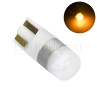 Светодиодная лампа 360 Light Osram чип 2W T10 W5W желтая