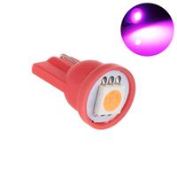 Светодиодная лампа направленного света 1 LG SMD 5050 T10 W5W розовая