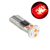 LED лампа со стабилизатором и обманкой Atomic 6 SMD3030 T10 W5W красная