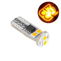 LED лампа со стабилизатором и обманкой Atomic 6 SMD3030 T10 W5W оранжевая