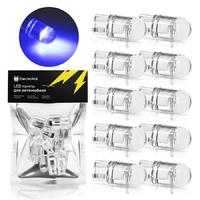 Светодиодная лампа для авто ElectroKot Crystal T10 W5W синий свет 10 шт