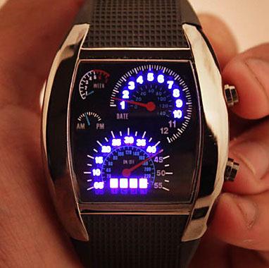 Бинарные светодиодные часы скорость