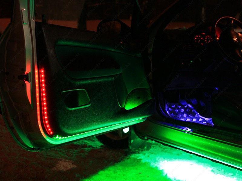 Как сделать светодиодную подсветку для авто