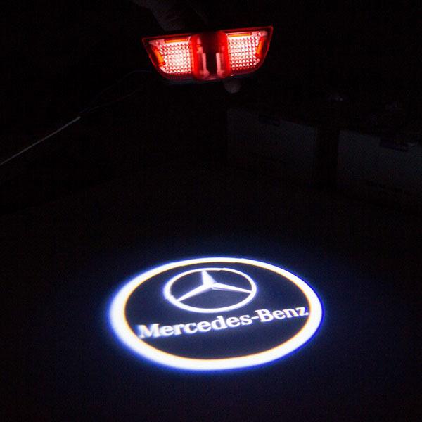 Штатная подсветка дверей с логотипом Mercedes купить