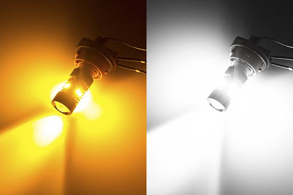 Двухцветная светодиодная лампа SMD2835 7443 W21/5W  Т20